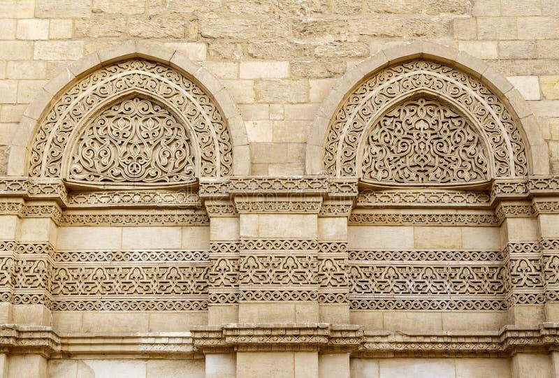 Pared exterior de la mezquita del al-Hakim, El Cairo, Egipto imagen de archivo libre de regalías