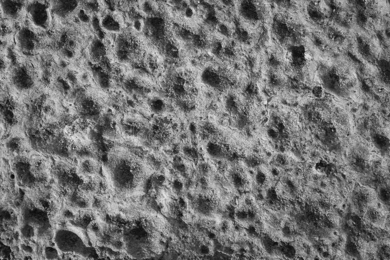 Pared gris cubierta con yeso áspero fotografía de archivo libre de regalías