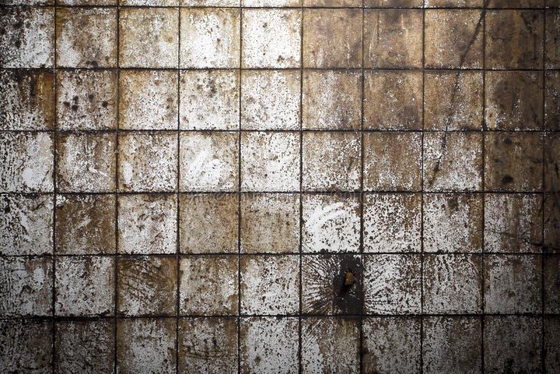 Pared gris melanc?lica con el molde 4 imágenes de archivo libres de regalías