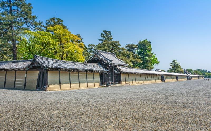 Pared imperial del palacio de Kyoto fotos de archivo