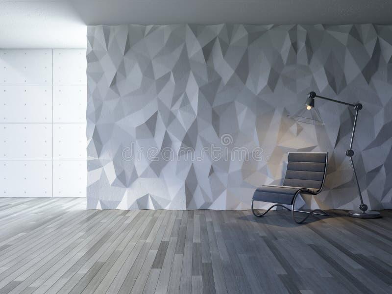 pared interior del polígono 3Ds ilustración del vector