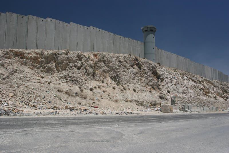 Pared Jerusalén de la separación fotografía de archivo