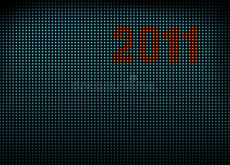 Pared llevada con los números 2011 foto de archivo