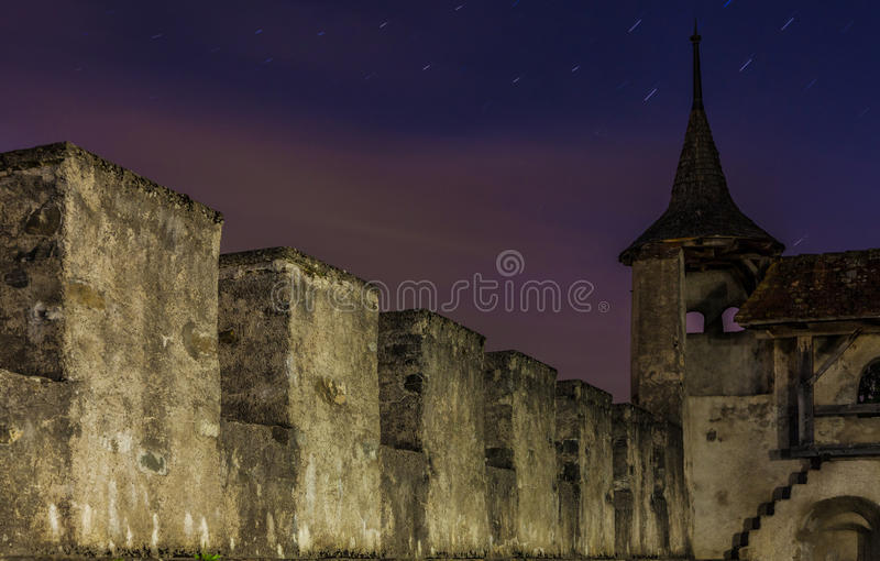 Pared medieval del castillo, Suiza fotografía de archivo