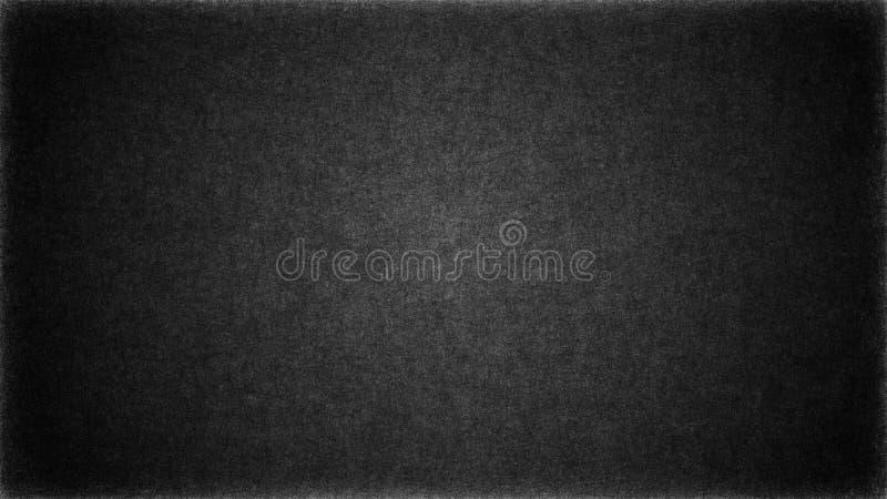 Pared negra oscura del grunge del extracto con los rasguños y las grietas en superficie Para el fondo de la textura o del modelo stock de ilustración