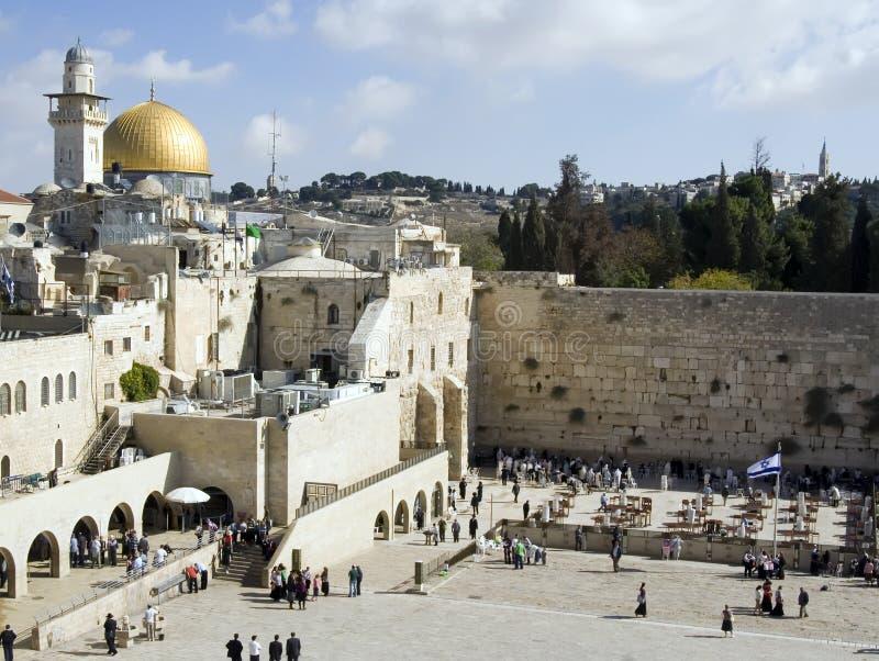 Pared occidental en Jerusalén foto de archivo libre de regalías