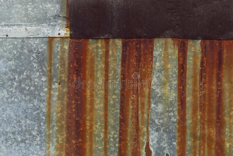 Pared oxidada del hierro Diversas superficies del metal foto de archivo libre de regalías