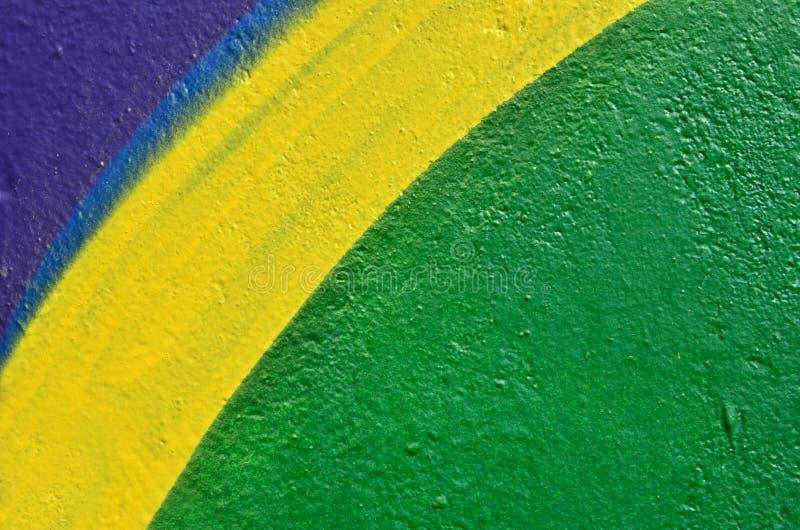 Pared pintada multicolora vibrante imágenes de archivo libres de regalías