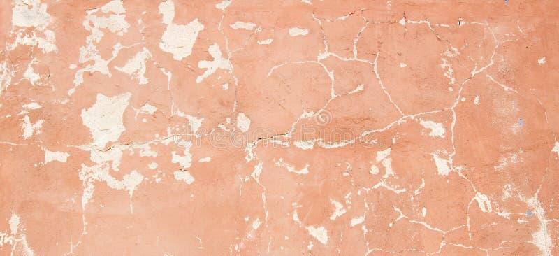 Pared pintada vacía vieja del yeso con la estructura agrietada, fondo de la textura fotografía de archivo libre de regalías