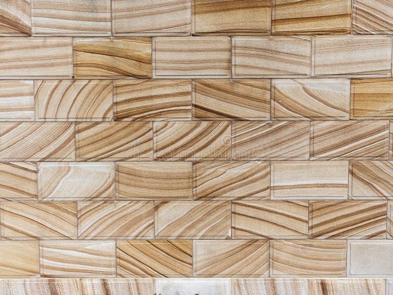 Pared pulida moderna de la característica de la piedra arenisca, Sydney, Australia imagen de archivo libre de regalías