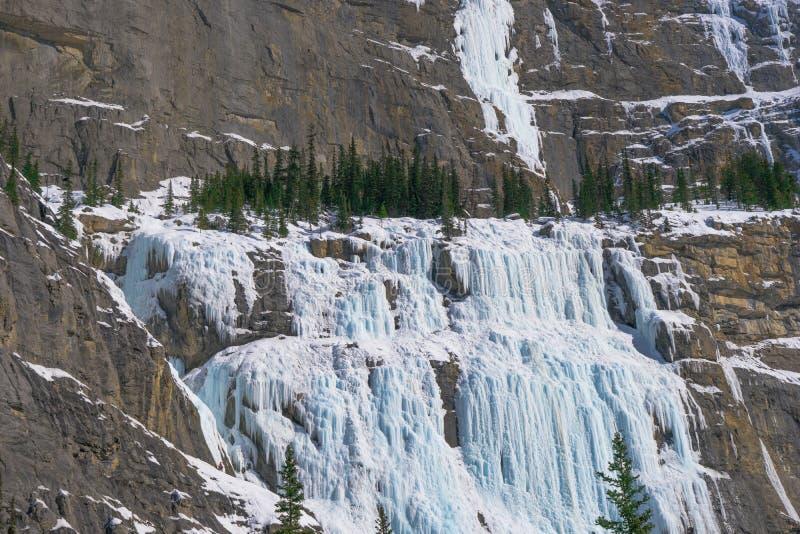 Pared que llora en el parque nacional de Banff, Canadá fotografía de archivo libre de regalías