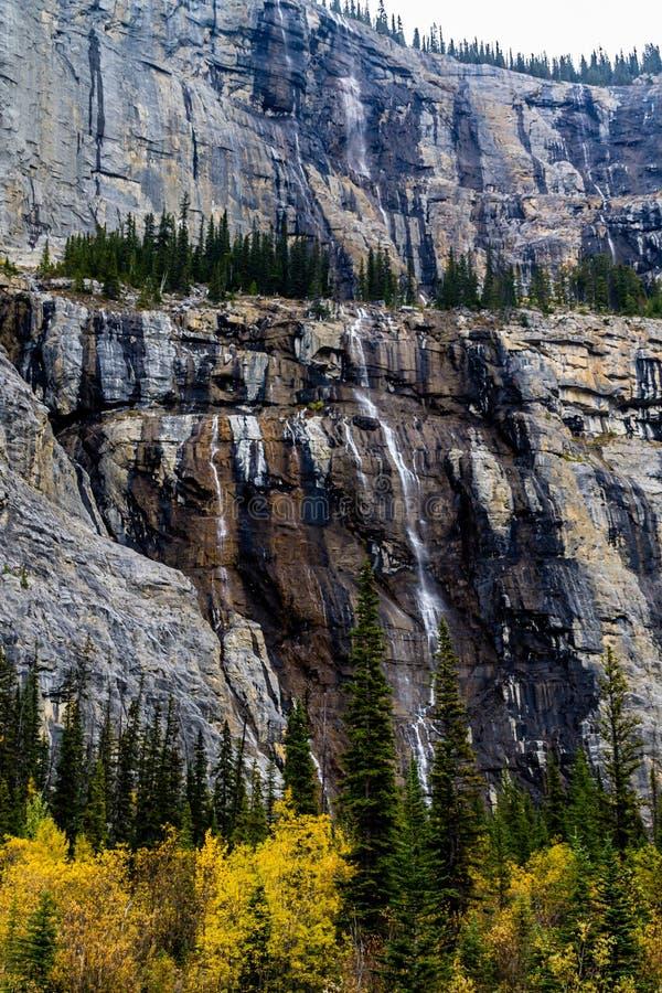 Pared que llora, parque nacional de Banff, Alberta, Canadá foto de archivo