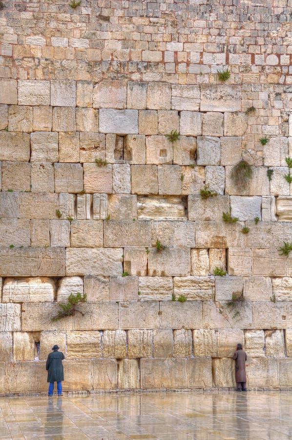 Pared que se lamenta, Jerusalén Israel imágenes de archivo libres de regalías