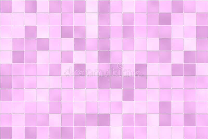 Pared rosada del azulejo libre illustration