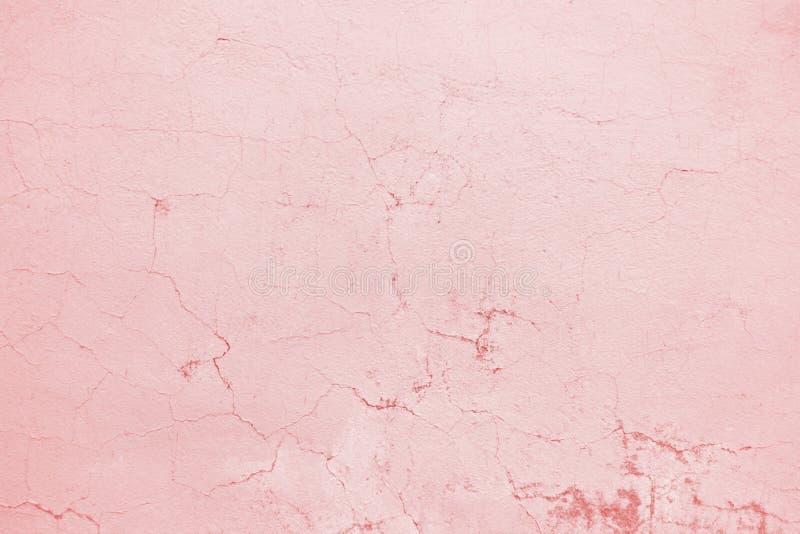 Pared rosada, yeso de la textura, superficie concreta como fondo foto de archivo libre de regalías