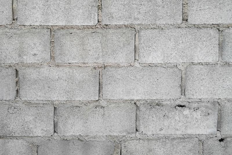Pared simple del bloque del cemento del fondo para la decoración y espacio vacío para el texto foto de archivo libre de regalías