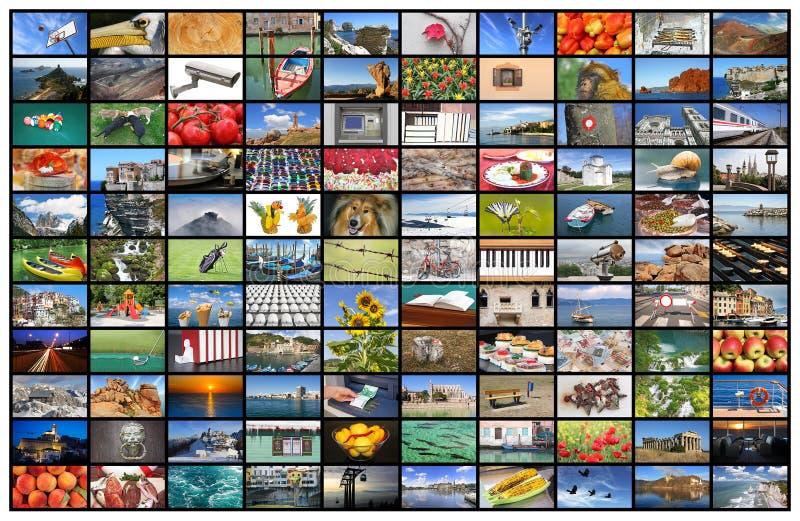 Pared video de la pantalla de la TV fotos de archivo libres de regalías