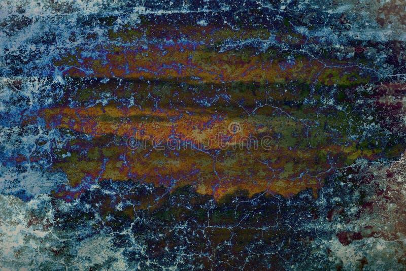 Pared vieja abstracta del grunge del color ilustración del vector