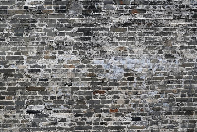 Pared vieja de Grey And White Antique Brick fotografía de archivo libre de regalías