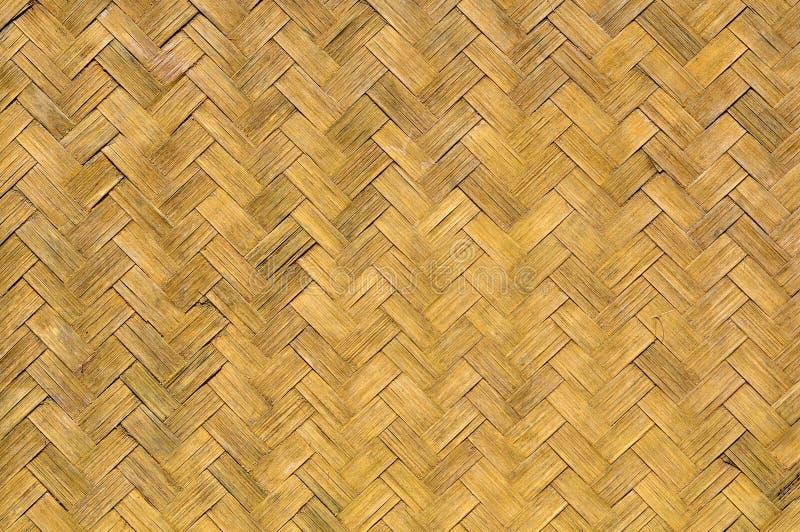 Pared vieja del bambú de la armadura fotografía de archivo