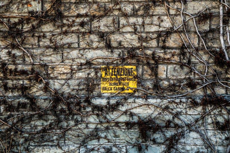 Pared vieja en Trieste imagen de archivo libre de regalías