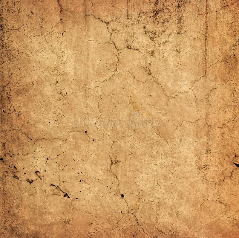 Pared vieja hermosa con las grietas imagen de archivo libre de regalías