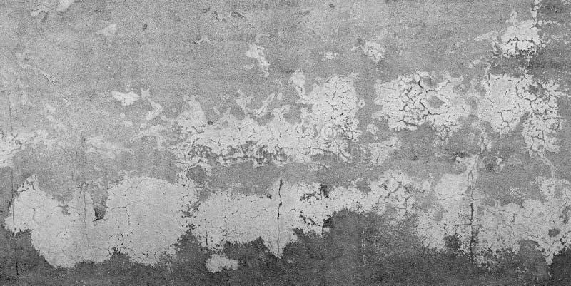 Pared vieja sucia rota fondo del cemento áspero pintado foto de archivo libre de regalías