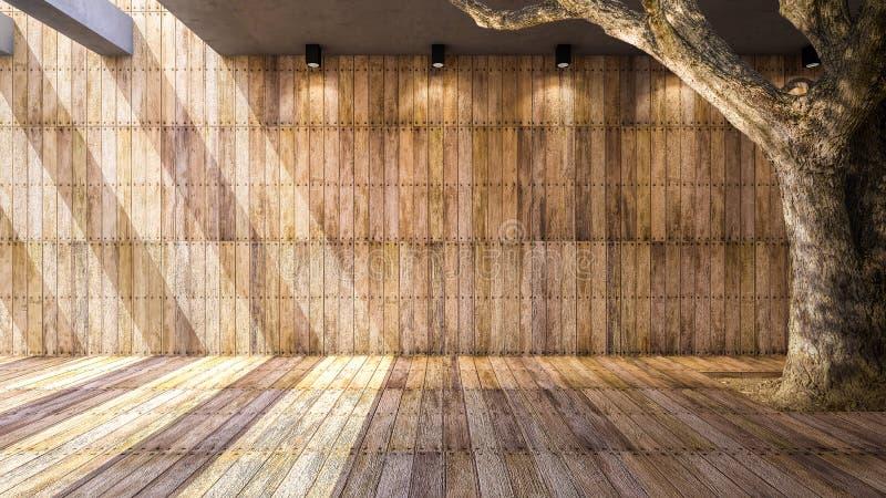 Pared y suelo de madera libre illustration