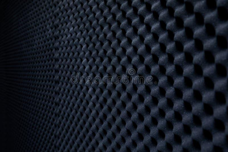 Parede à prova de som no estúdio sadio, fundo do som - esponja absorvente foto de stock royalty free