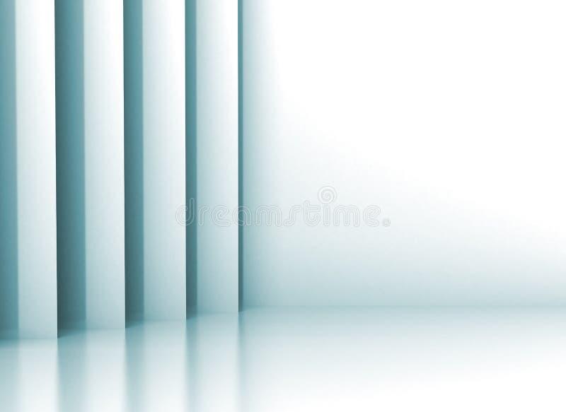Parede 3d abstrata ilustração do vetor