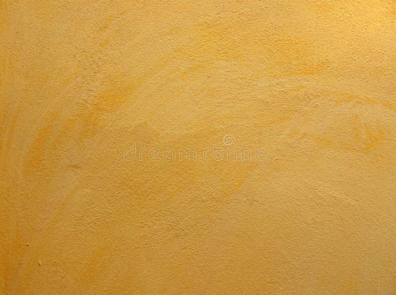 parede amarela do cimento do grunge fotografia de stock