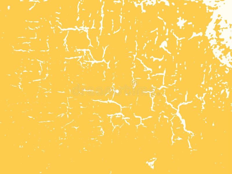 A parede amarela racha a textura do vetor do fundo ilustração do vetor