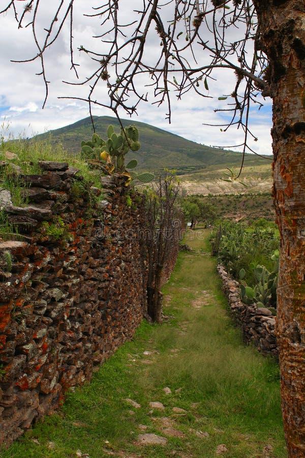 Parede antiga construída por povos de Wari fotografia de stock royalty free