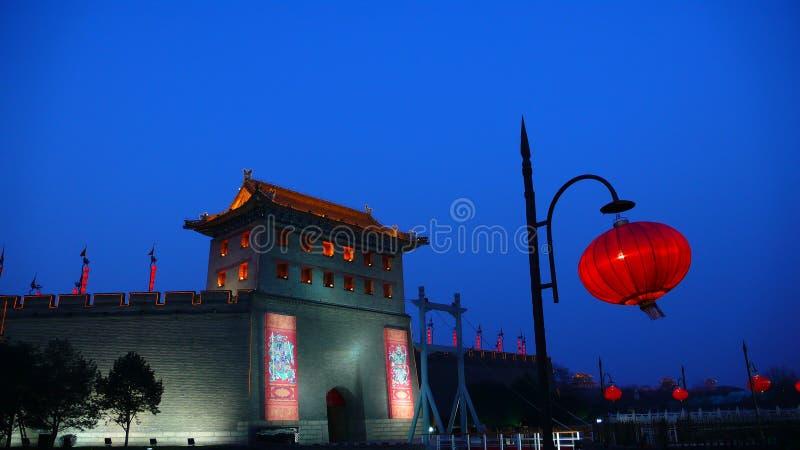 Parede antiga da cidade de Xi'an, China fotos de stock