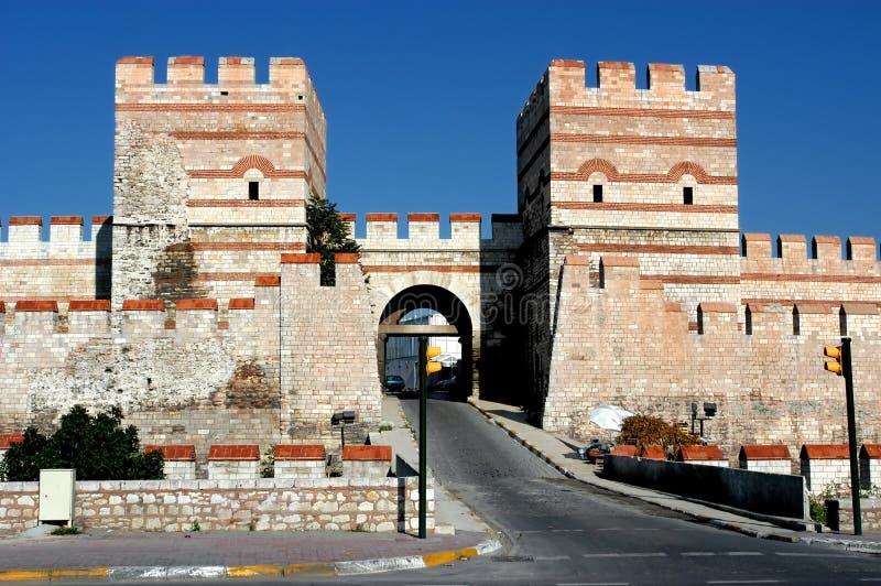 Parede antiga em Constantinople, Istambul fotografia de stock royalty free
