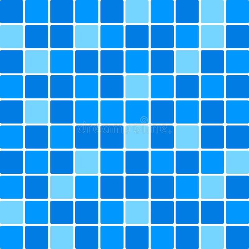 Parede azul da telha ilustração royalty free