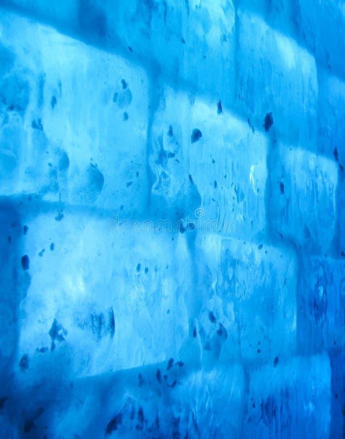 Parede azul do gelo imagem de stock