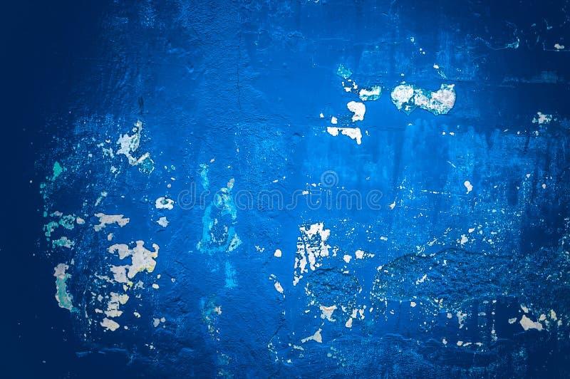 Parede azul do Grunge, fundo textured altamente detalhado imagem de stock