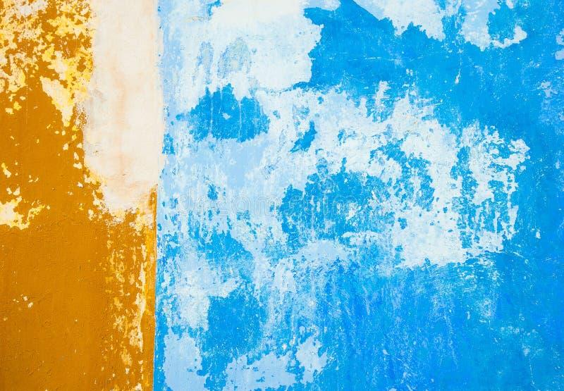 Parede azul do Grunge, fundo textured altamente detalhado fotos de stock royalty free