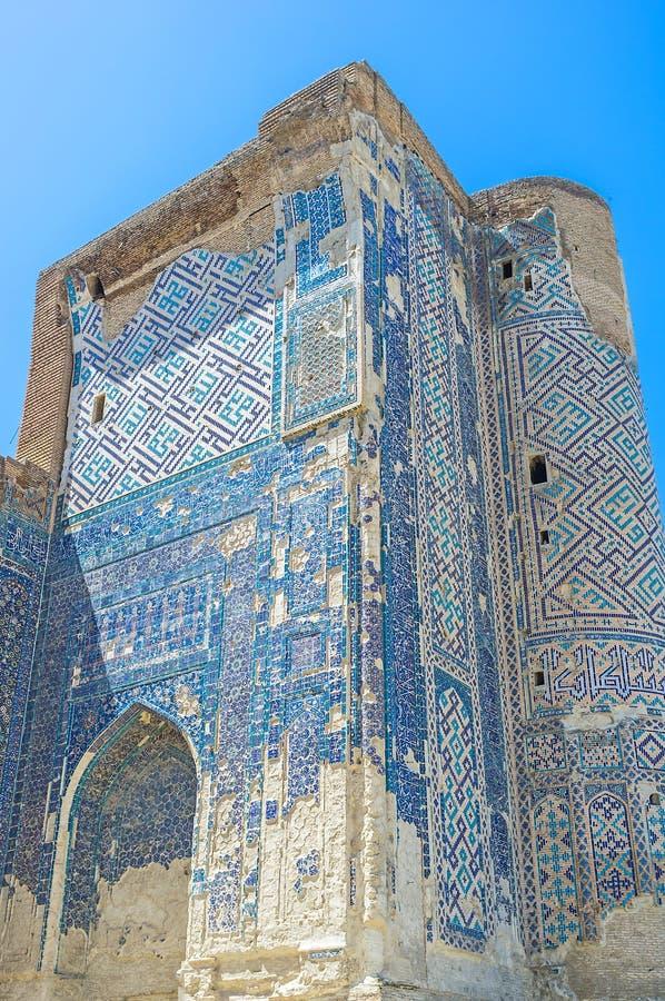 A parede azul velha imagens de stock