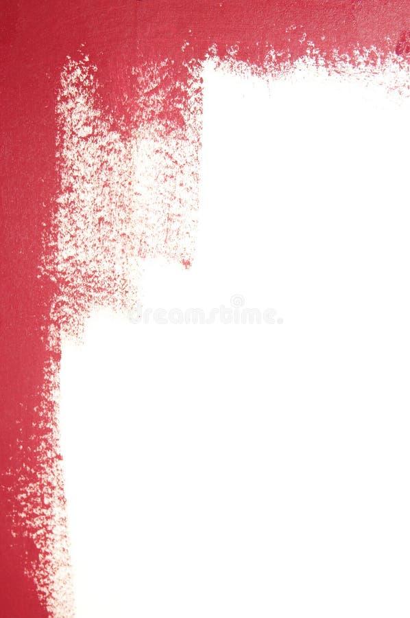 Parede branca em parte pintada fotos de stock royalty free