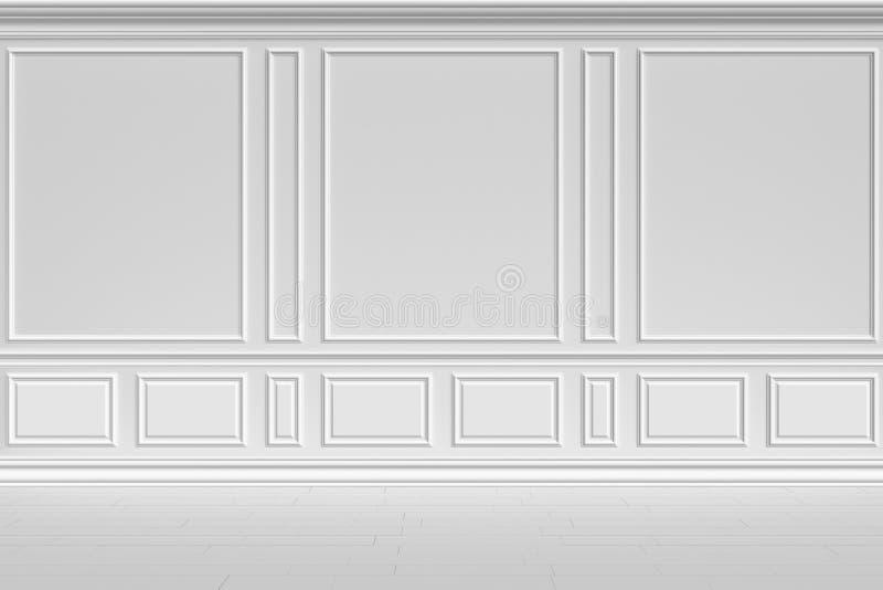 Parede branca no estilo clássico ilustração do vetor