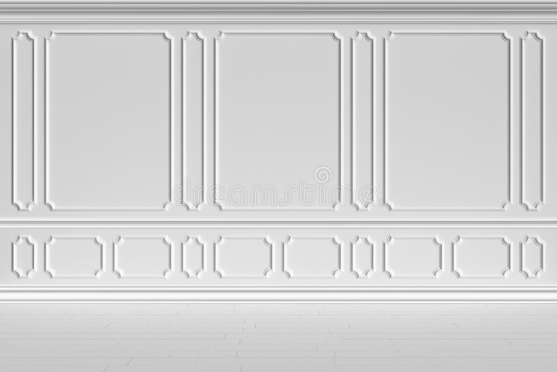 Parede branca no estilo clássico ilustração stock