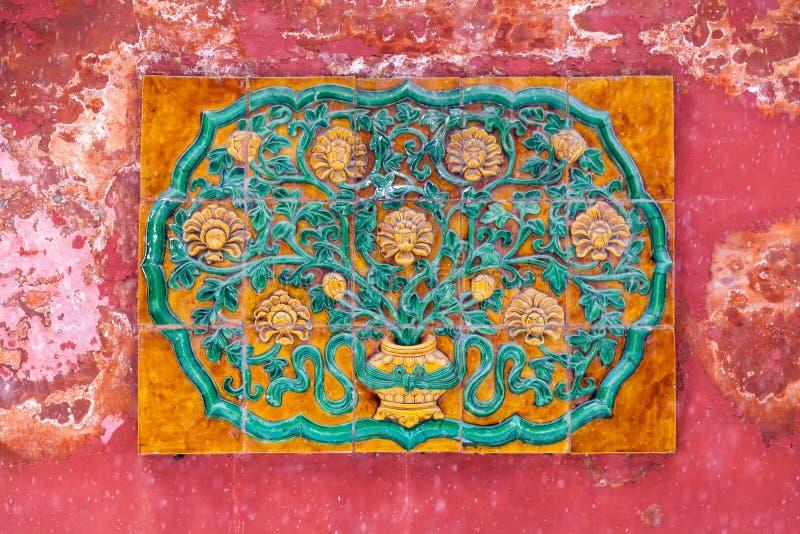 Download Parede chinesa antiga foto de stock. Imagem de carving - 29843854