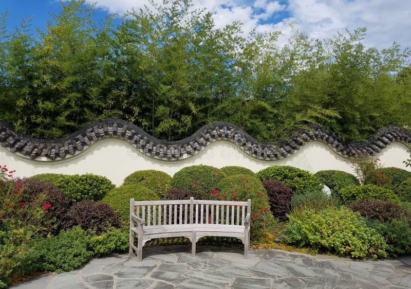 Parede chinesa do jardim fotografia de stock
