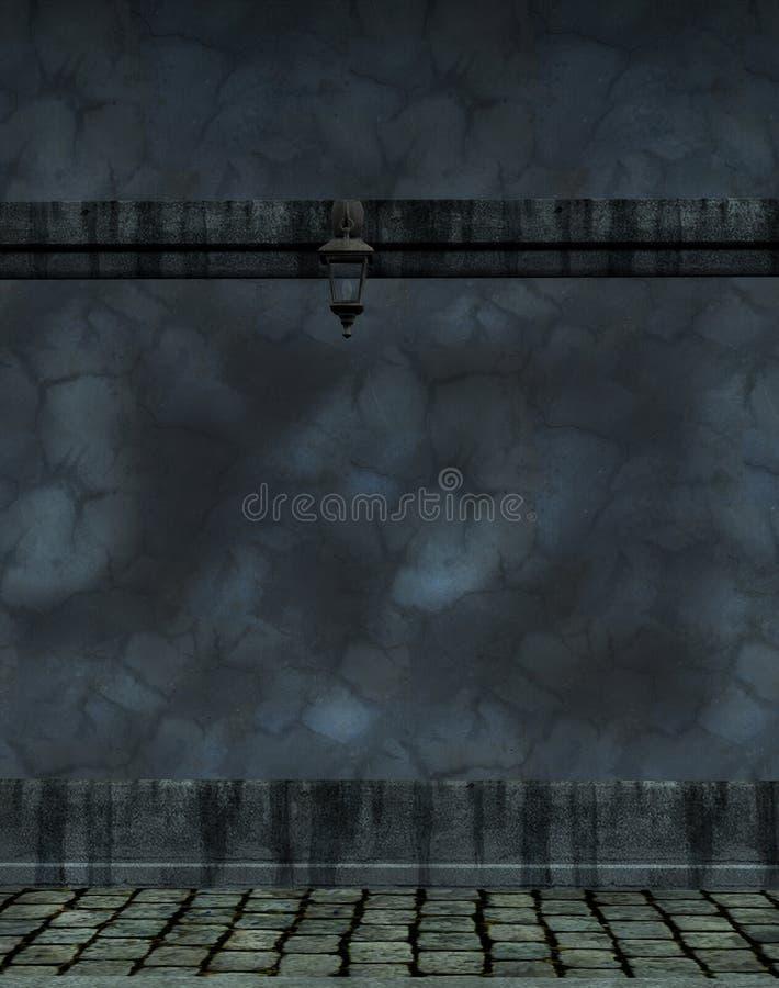 Parede cinzenta do cimento ilustração do vetor