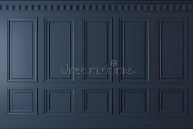 Parede clássica dos painéis de madeira escuros ilustração do vetor