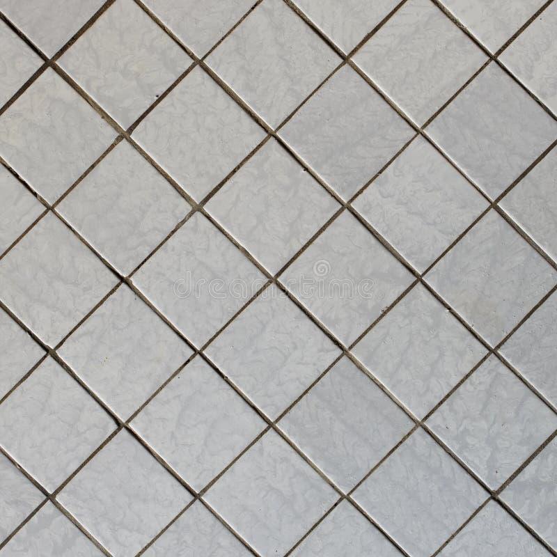 Parede coberta com a telha - textura quadrada diagonal fotos de stock royalty free
