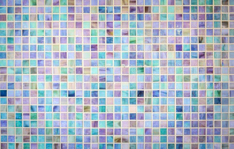 Parede colorida da telha do vidro de mosaico imagens de stock