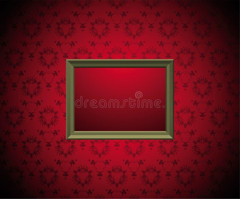 Parede com frame de retrato ilustração stock